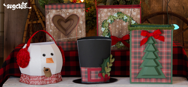Snowed-In Gift Bags SVG Kit