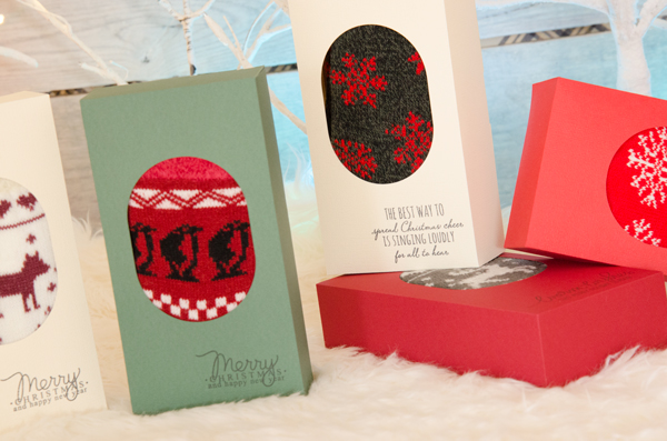 SVG Cuts FREE file - Cozy Socks Gift Box