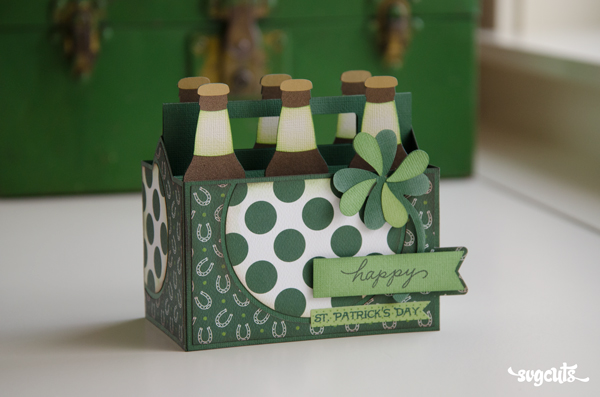 Six Pack Box Card for Saint Patrick's Day