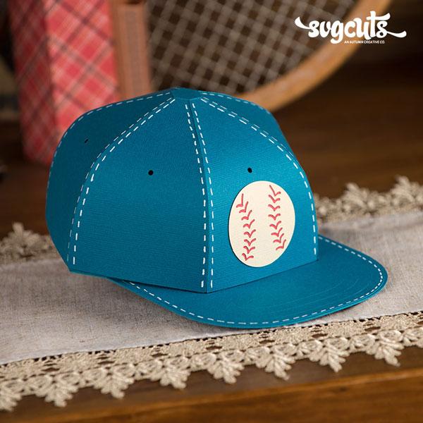 Baseball-Cap-Gift-Box-SVGCuts