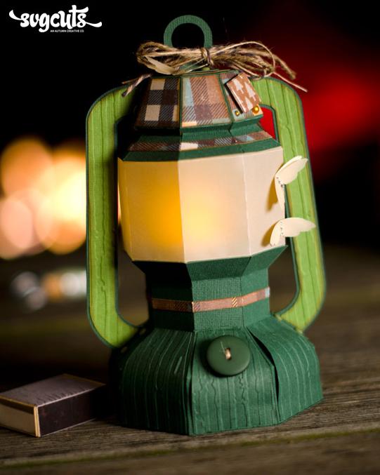 DIY Paper Camping Lantern Luminary