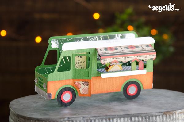 Taco Truck Box Card