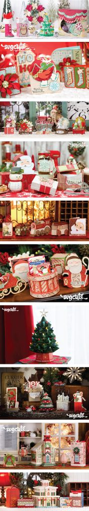 Popular Christmas paper projects from SVGCuts