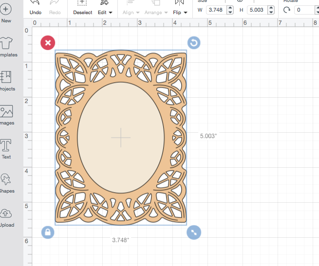 SVGCuts lace frame in Cricut Design Space