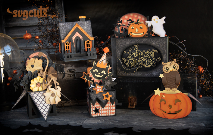 New Free Gift - Halloween Box Cards SVG Kit - $7.99 Value