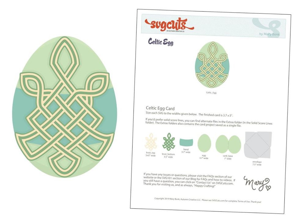 Free Celtic Egg SVG File from SVGCuts