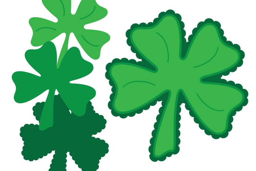 Free Scalloped Shamrock SVG File from SVGCuts