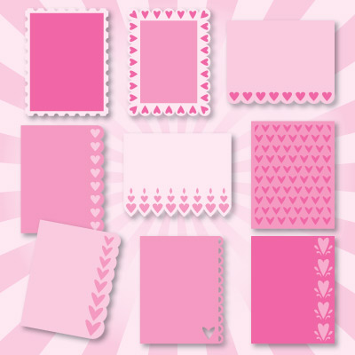 A2 Lace Edged Cards SVG Kit | SVGCuts