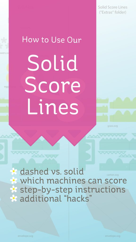 How to use SVGCuts optional Solid Score Lines