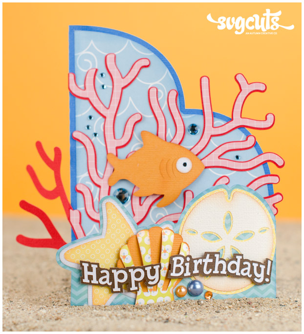 How to Assemble the Birthday Card project from the Wet N Wild SVG Kit